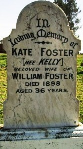 Kate Kelly's grave in the Forbes cemetery, 2006. Photo by Merrill Findlay.