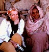 Eritrean farmer, Regbe Bayre (right), with the author, Merrill Findlay, in a displaced persons' settlement during Eritrea's War of Liberation. Photo by EPLF Commander, Tecle Frezghi, Eritrea 1988.