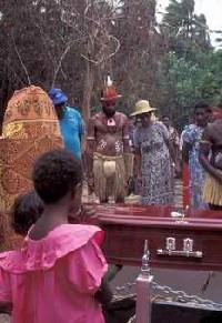 Reburial of Eddie Mabo on Mer, or Murray Island. Photo by Merrill Findlay.