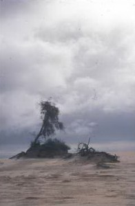 Storm over Mungo. Photo by Merrill Findlay, 1990.