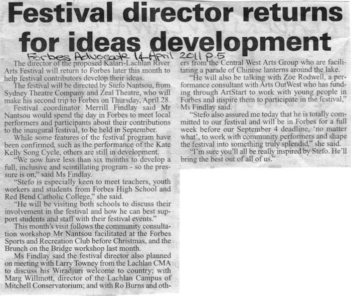 Project media 2011 | Dr Merrill Findlay