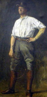 Portrait of Paul Wenz by Paul Laurens now in the Wenz Collection, Forbes & District Historical Society Museum, NSW.