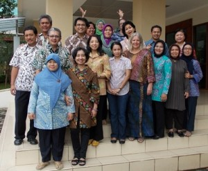 My colleagues in the Faculty of Political and Social Sciences, Universitas Terbuka, in South Tangerang, within the sprawl of the Greater Jakarta Metropolitan Area.