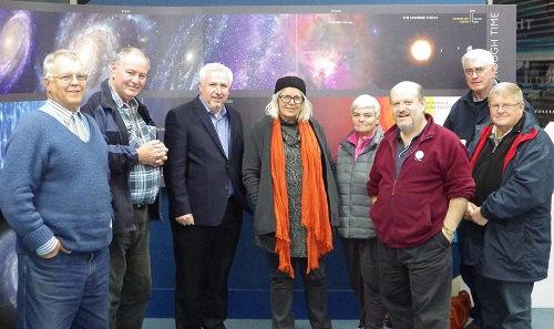 Members of Central West Astronomical Society at their monthly meeting, 3 July, 2015, following a brief presentation about Big Skies by Merrill Findlay.