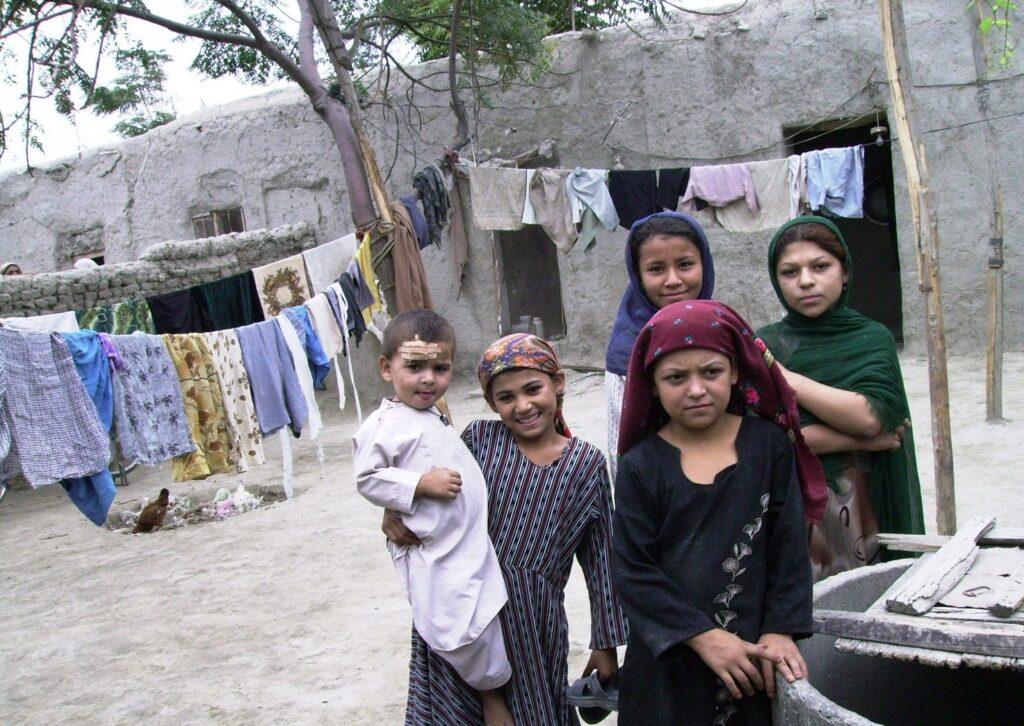Refugee children at the Khurasan Drug Rehabilitation Centre. Photo by Merrill Findlay, 2006.